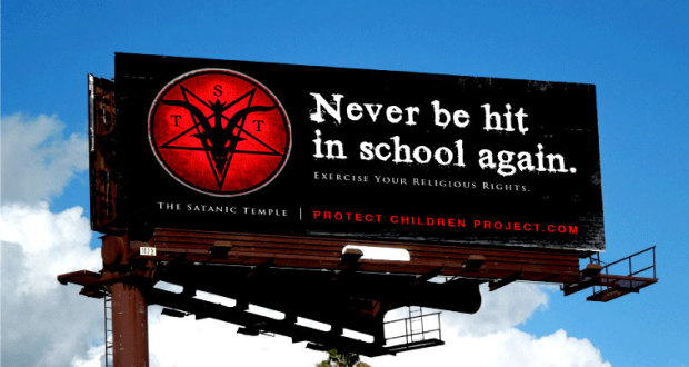 "Le ""Temple Satanique"" Démarre son Propre Programme Anti-Intimidation pour les Enfants never be hit in school again 620x330"
